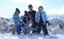 The Bolter family at the skifield.