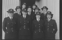 Policewomen at the Trentham Police Training School in 1956