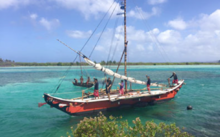 Traditional boat in the Marianas