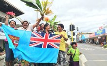 Fijians celebrate the country's first Olympic medal after its sevens team won gold.