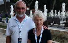 The parents of New Zealand rower Hamish Bond, Graeme and Shirley Bond.