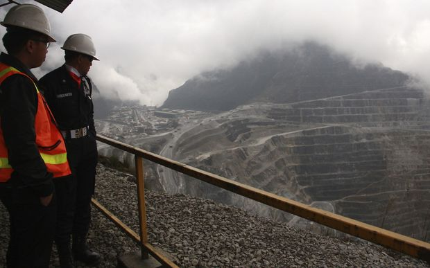 Freeport-McMoran mine in West Papua.