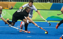 New Zealand's Hugo Inglis in action. Olympic hockey, Blacksticks Men v Germany, Rio Olympics Games 2016, Rio de Janeiro. Monday 14 August, 2016.