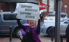 Midwives marched through Wellington today to raise awareness of their pay dispute with the Ministry of Health.