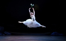 Dancer Lucy Green as the title character in Giselle
