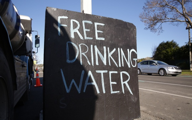 Drinking water stations have been set up around Havelock North.