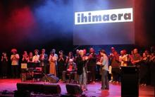 Ihimaera cast on stage with Witi by Emma Robinson