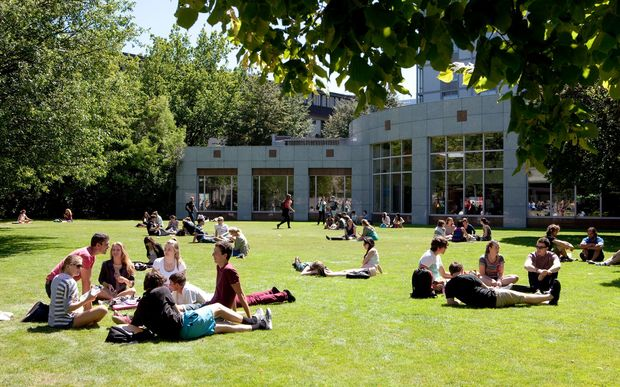 The University of Canterbury campus