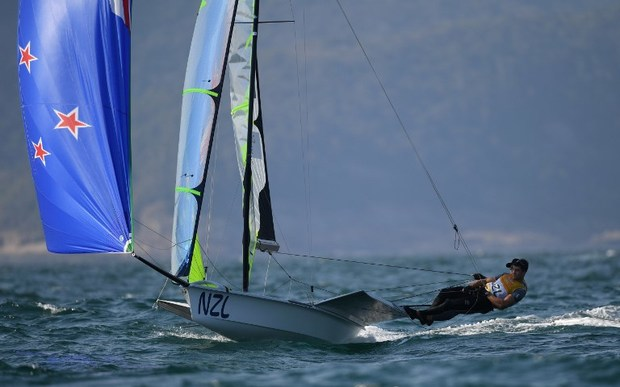 Peter Burling and Blair Tuke competing in Rio