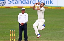 Tim Southee during day one of the first test match between South Africa and New Zealand
