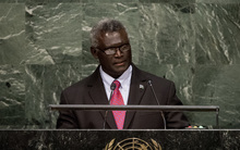 The Prime Minsiter of Solomon Islands Manasseh Sogavare