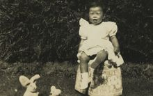 Helene at Utiku, one year old, circa 1950 Photo courtesy Wong family