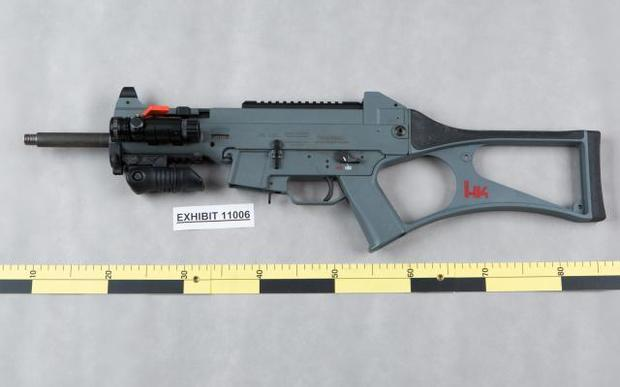 A gun seized by police after an operation in Auckland in July 2015.