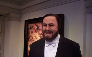 Luciano Pavarotti in wax at Madame Tussaud Wax Museum, Amsterdam