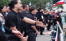 Maori protestors at West Papua rally, Wellington