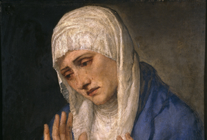 Madonna in Sorrow, 1554 by Titian