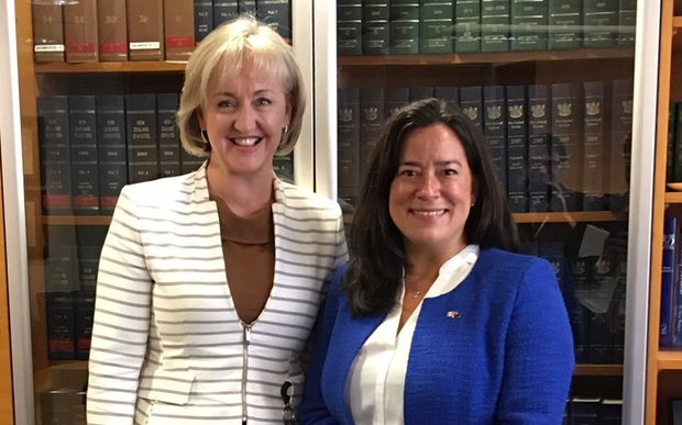 New Zealand's Justice Minister Amy Adams & Canada's Justice Minister Jody Wilson-Raybould