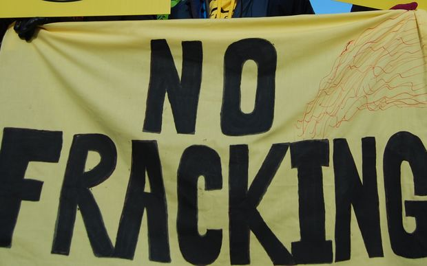 Anti fracking sign