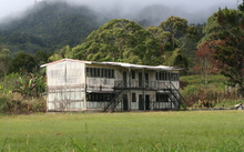 A school burnt out as a result of tribal conflict in Papua New Guinea's Hela province.