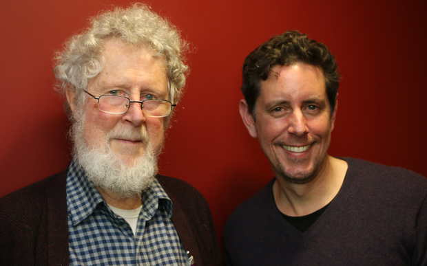 Jim Flynn, the author of The New Torchlight List: In Search of the best Modern Authors, with RNZ presenter Wallace Chapman