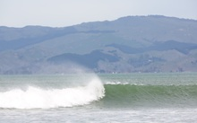 Surf at Gisborne beach
