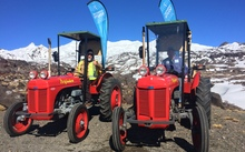 The Tractors on Mt Ruapehu, where Sir Ed first experienced snow.
