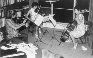 Beatrice playing in trio 1970