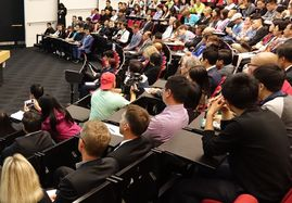Hundreds attended a meeting at the University of Auckland on 1 April 2016 prompted by recent violent attacks on international students.