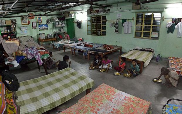 An orphanage in India