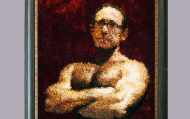 Whanganui artist Mark Rayner's Wallace Art Award-nominated rug depiction of Labour leader Andrew Little.
