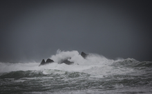 08092016 Photo: Rebekah Parsons-King. Wild weather in Wellington's South coast.