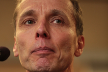 Nicky Hager book launch at Unity Books. The book is called Dirty Politics.