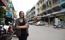 Carter Quinley on the streets of Bangkok