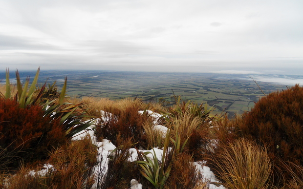 Canterbury Plains as seen from Mt Hutt.
