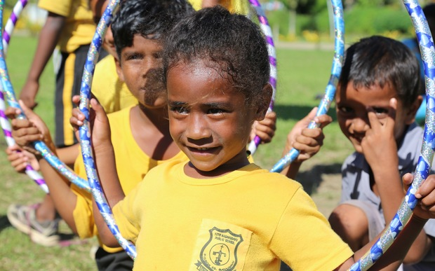 Over 200 children from Nasavusavu Public School took part in the Just Play festival as part of the emergency programme on Savusavu Island earlier this year.