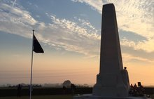 The New Zealand Memorial near Longueval, where commemorations of the 100th anniversary of the Battle of the Somme are taking place.
