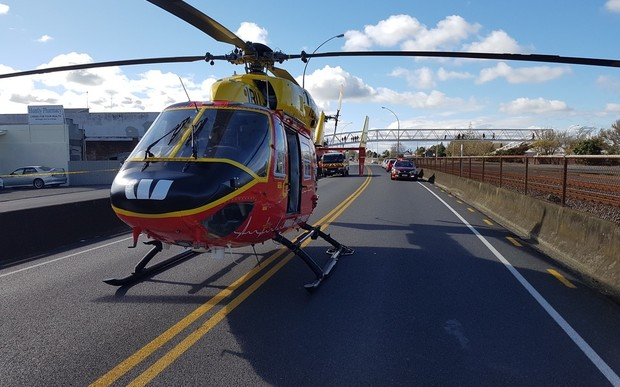 The Waikato Westpac Rescue Helicopter responded to the crash on SH1 in Huntly.