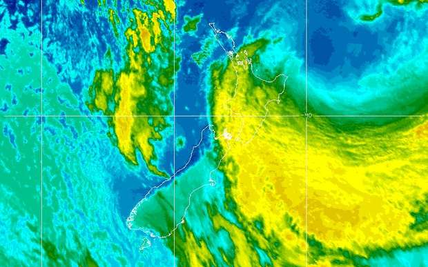 The latest infra-red image of ex-Cyclone Pam from the US NOAA (Monday).