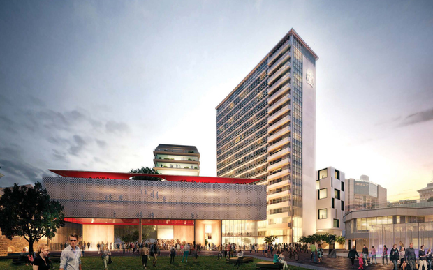A rendering of the future Auckland Civic Admin Building