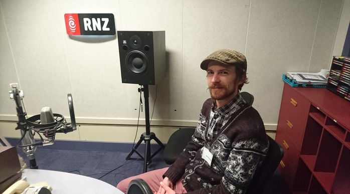 Jake Baxendale in the RNZ Concert Studio.
