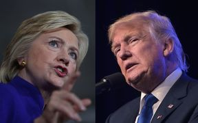 Hillary Clinton and Donald Trump will face off for the first time in a presidential debate that is one of the most highly anticipated political showdowns in US history.