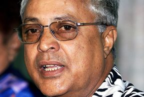 The leader of Fiji's Labour Party, Mahendra Chaudhry
