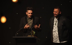 Mahuia Bridgman-Cooper and Tama Waipara won Best Original Music in a Feature Film for Mahana.