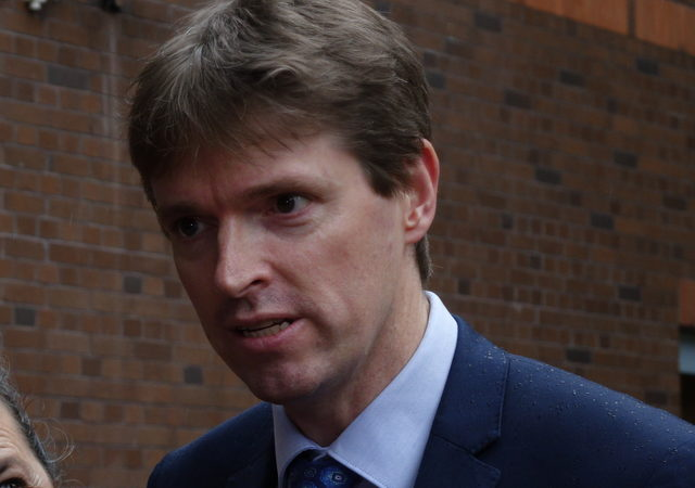 Colin Craig speaks to reporters outside court after the jury delivered its verdict.