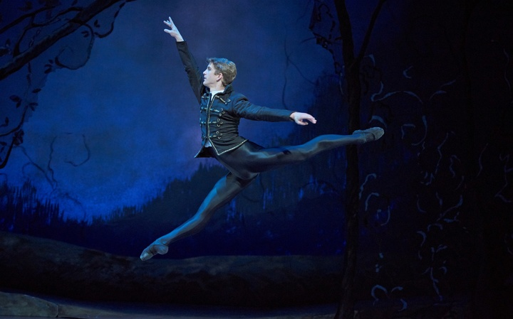 Royal New Zealand Ballet dancer Joseph Skelton as Albrecht in Giselle