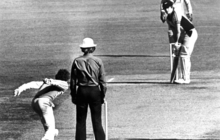 Trevor Chappell in the infamous underarm bowling incident of 1981.