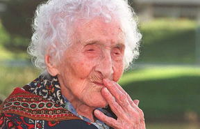 Jeanne Calment at the age of 120.