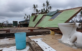 What Winston left of this house in Lavena village Taveuni Fiji