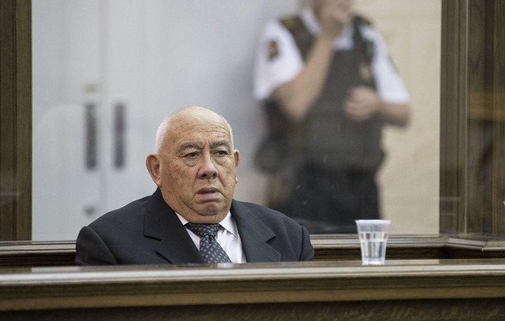 Sir Ngatata Love during his trial in the High Court of Wellington on 6 October 2016.