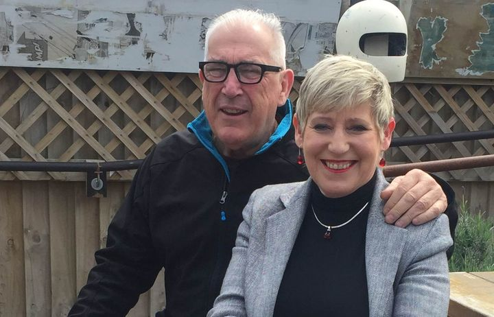 Lianne Dalziel and husband Rob Davidson celebrate preliminary results in the Christchurch local body election.